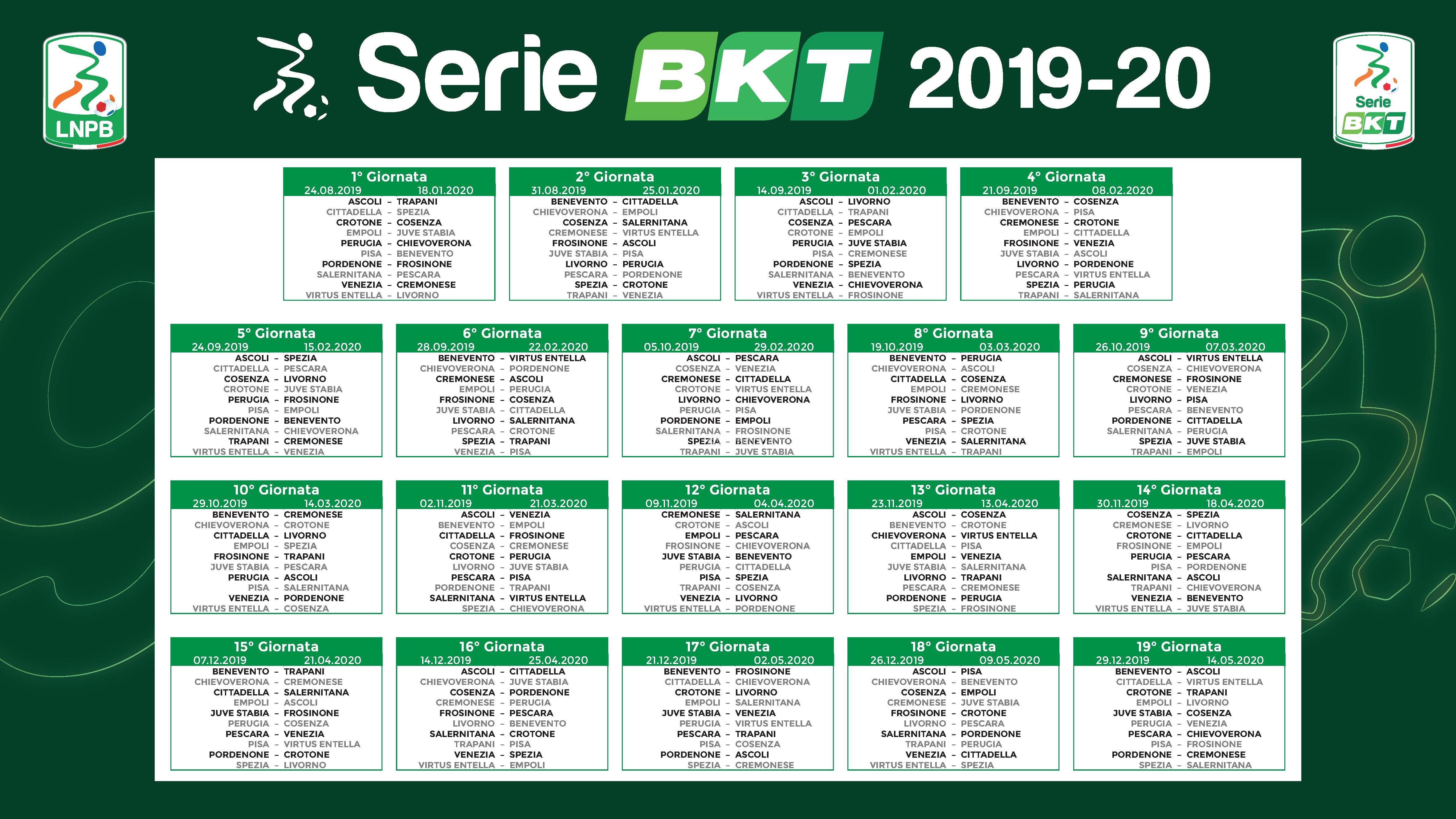 Calendario Serie B 2020 19.Calendario Salernitana 2020 Calendario 2020